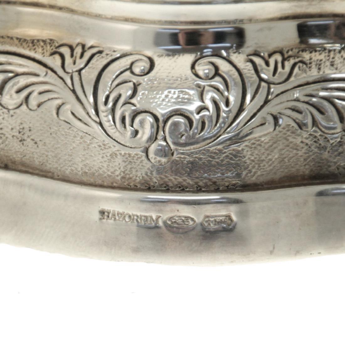 Hazorfim Sterling Silver Vase. - 4