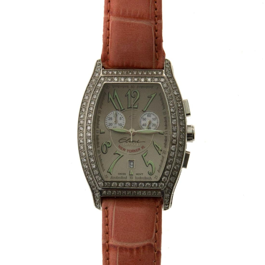 Elini New Yorker XL Diamond Wrist Watch.