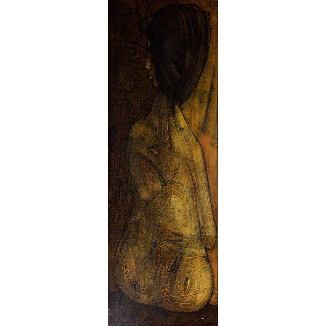 Inos Corradin (b.1929) - Woman, Oil on Canvas.