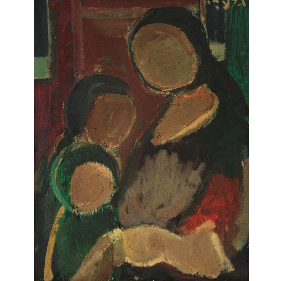 Aharon Giladi (1907-1993) - Figures, Oil on Canvas.
