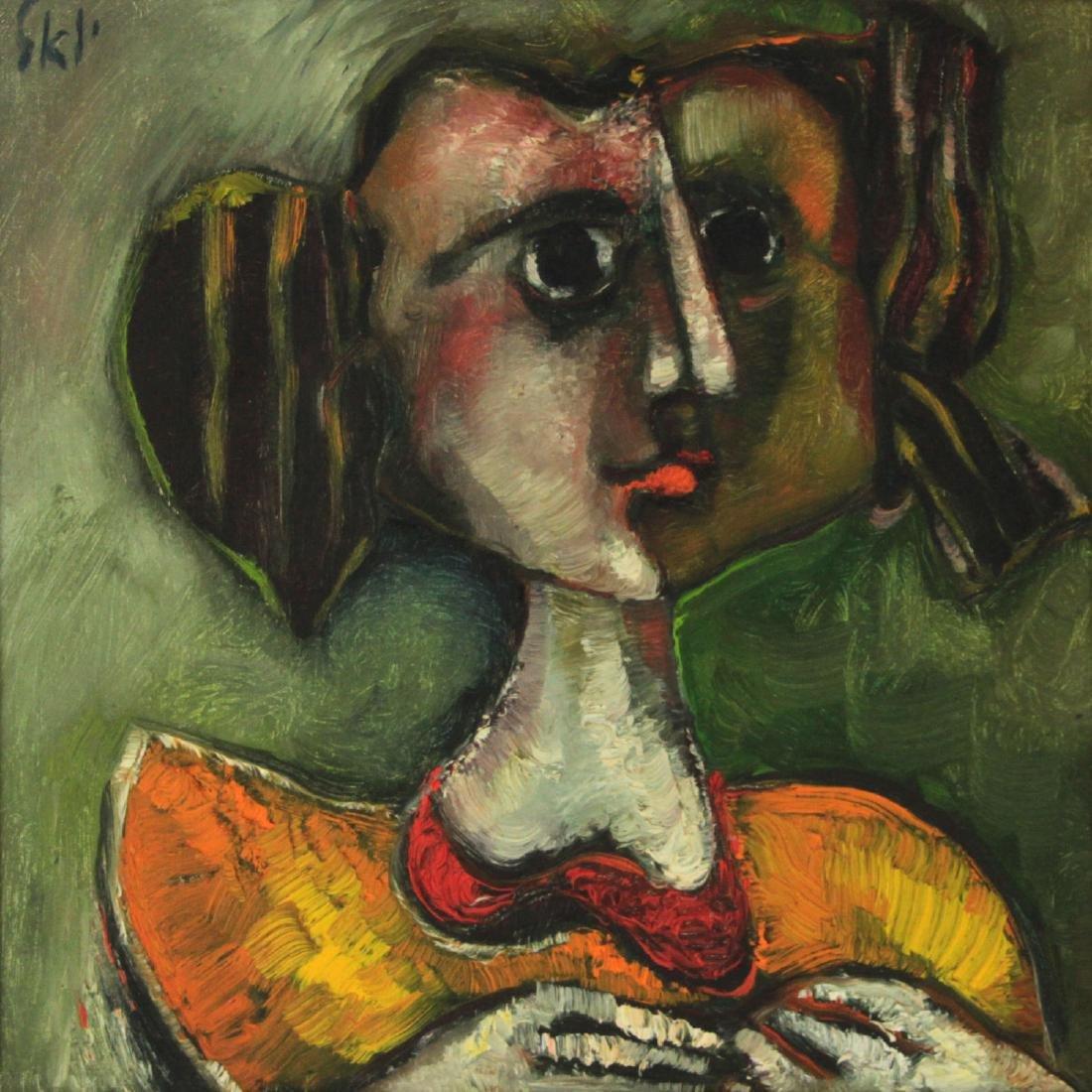Joel Kass (b.1937) - Woman, Oil on Canvas.