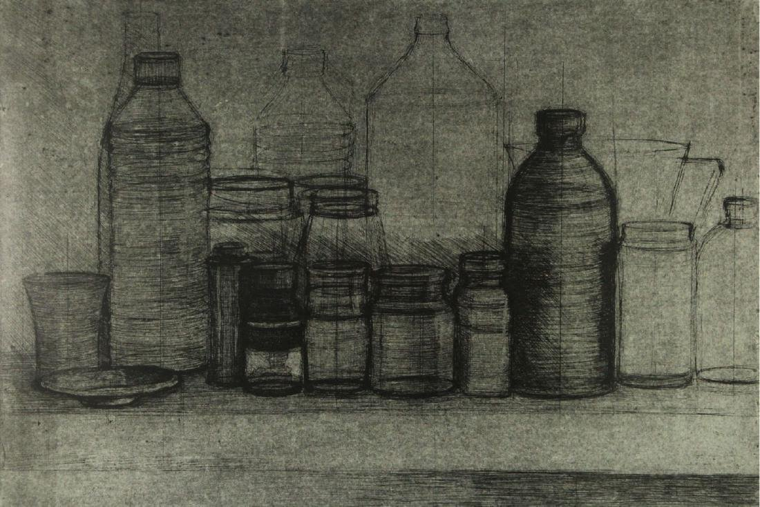 Ofer Lellouche (b.1947) - Bottles, Etching.