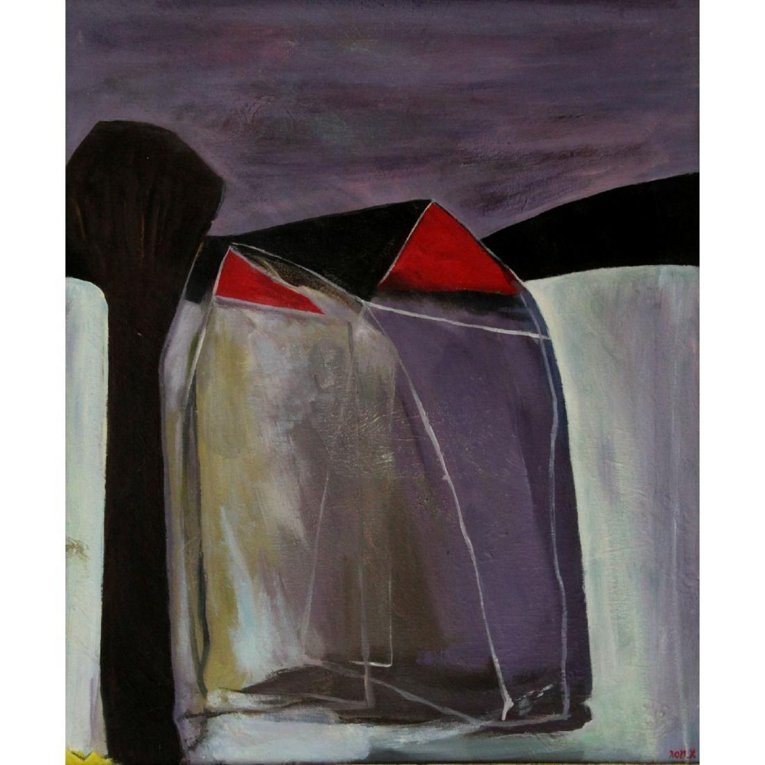 Aharon Messeg (b.1942) - Oil on Canvas.