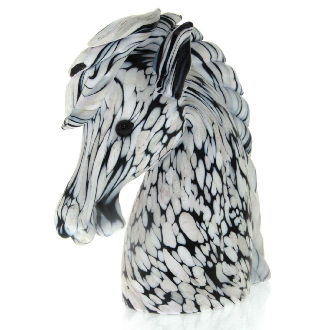 Archimede Seguso Murano Glass Horse Head Sculpture,