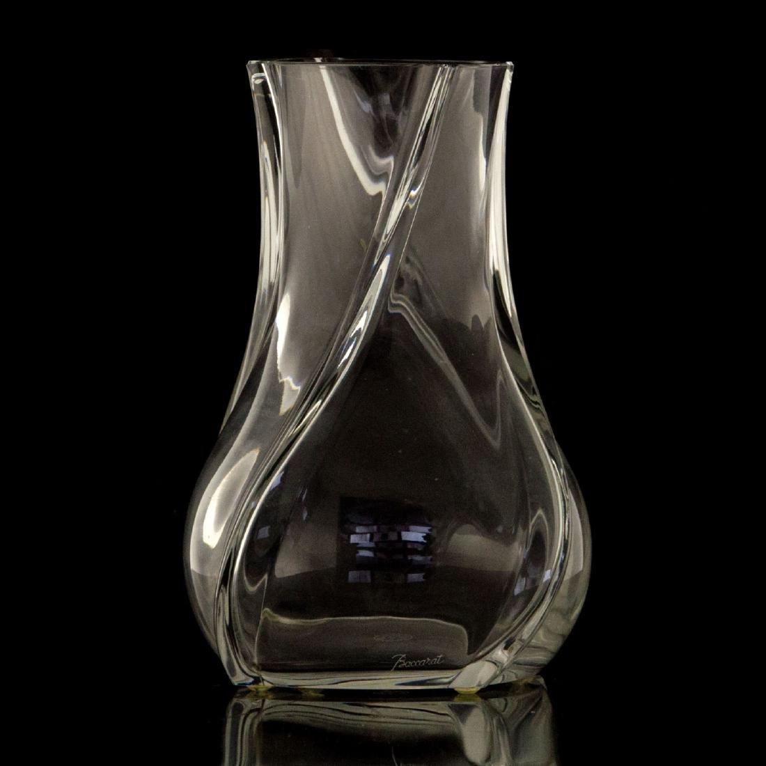 Baccarat Crystal Vase.