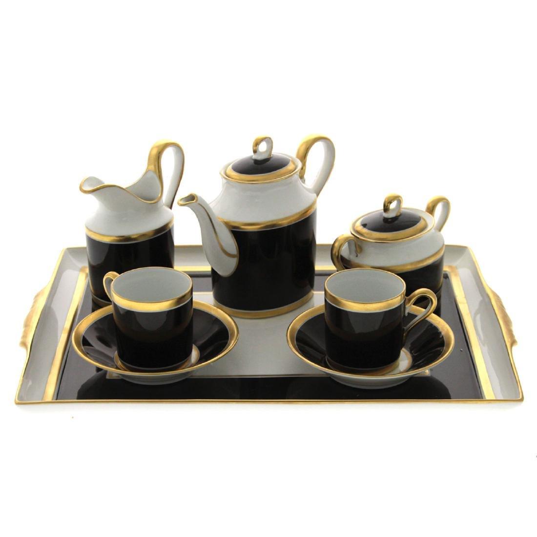 Richard Ginori Doccia Porcelain Tea for Two Set.