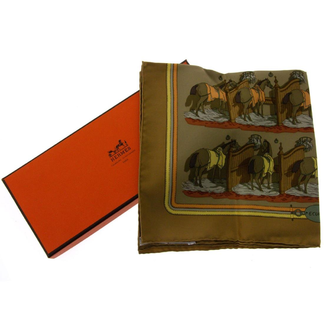 Hermes Handkerchief in the Original Box.