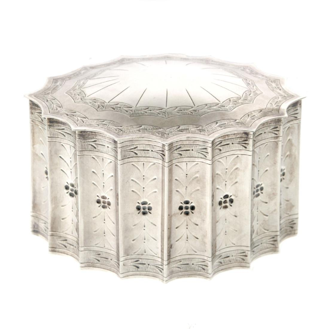 Sterling Silver Ethrog Box, Judaica.