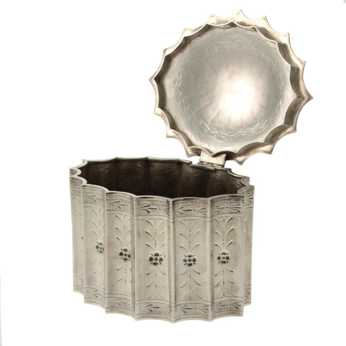 Sterling Silver Ethrog Box, Judaica. - 2