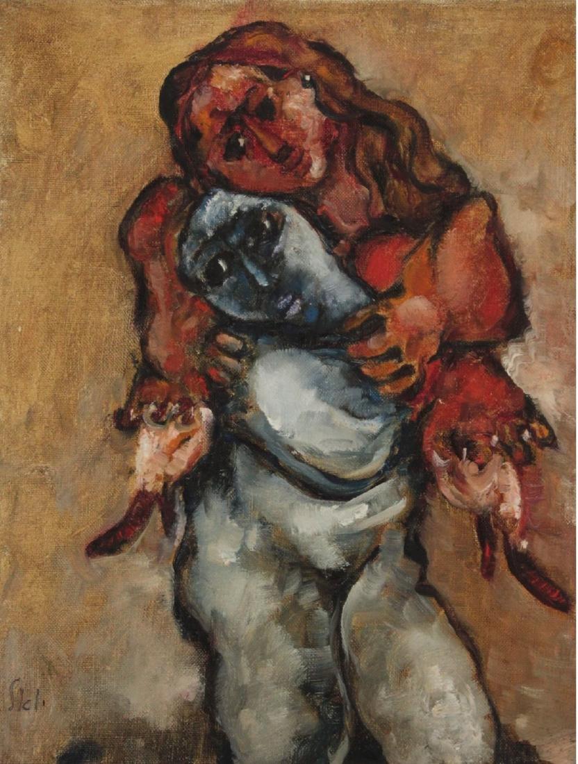 Joel Kass (b.1937) - Figures, Oil on Canvas, 2003.