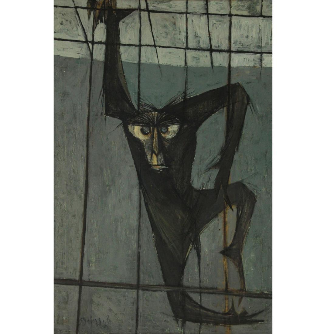 Zvi Tadmor (1923-2012) - Ape, Oil on Canvas, 1959.