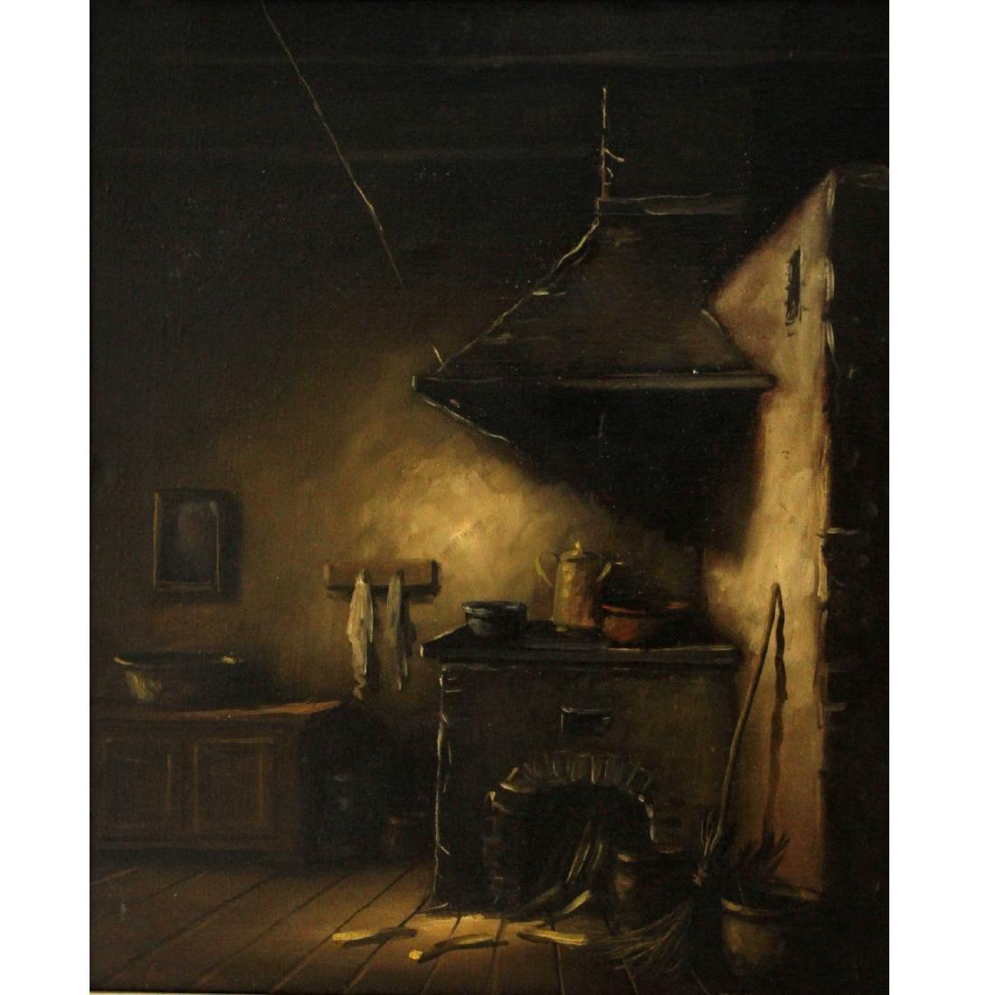 Jaroslaw Wojtkowiak (Poland, b.1952) - Kitchen, Oil on