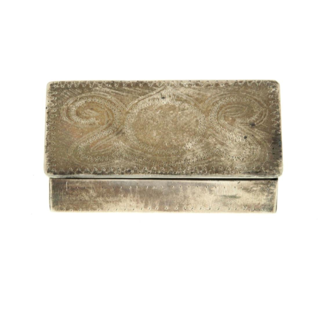 Sterling Silver Snuff Tobacco Box.