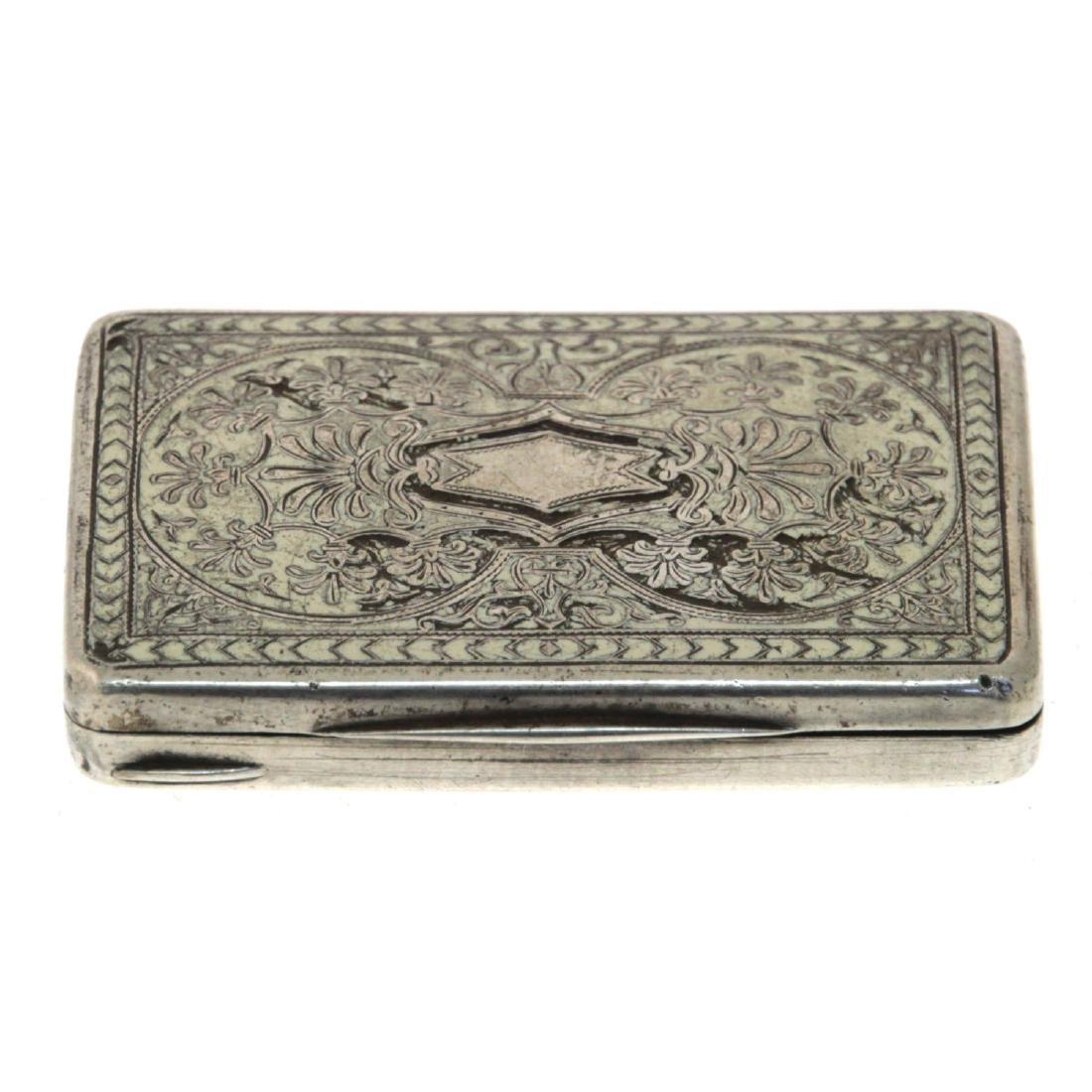 Silver Snuff Tobacco Box.