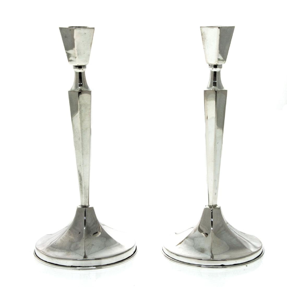 Pair of Silver Candlesticks.