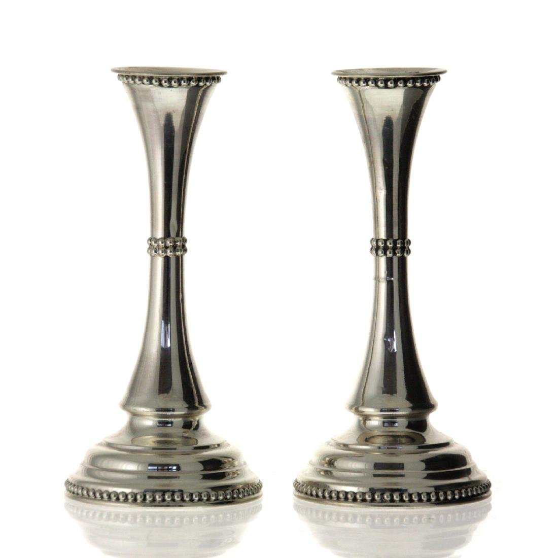 Pair of Sterling Silver Candlesticks.