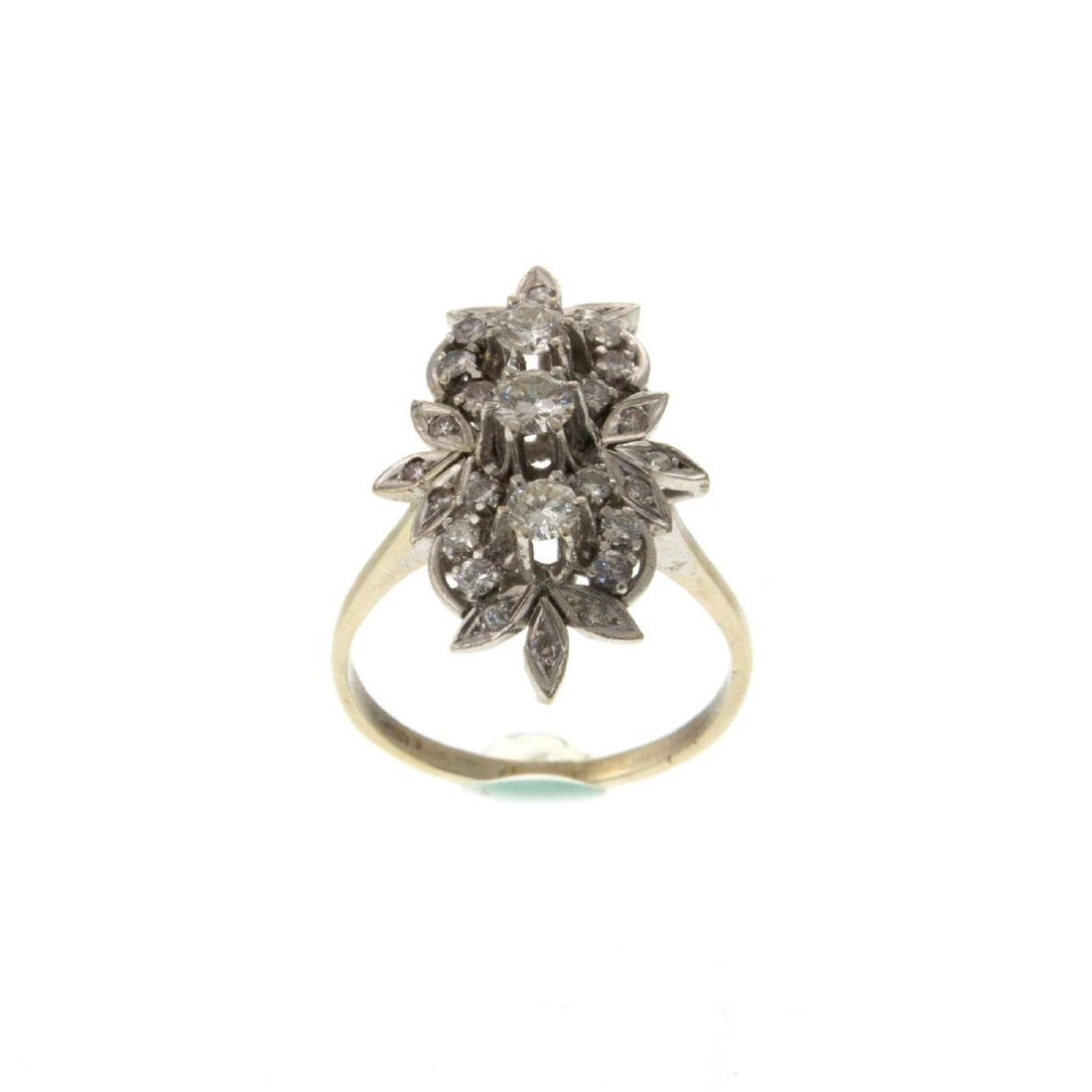Impressive 14k White Gold 1.08ct Diamond Ring.
