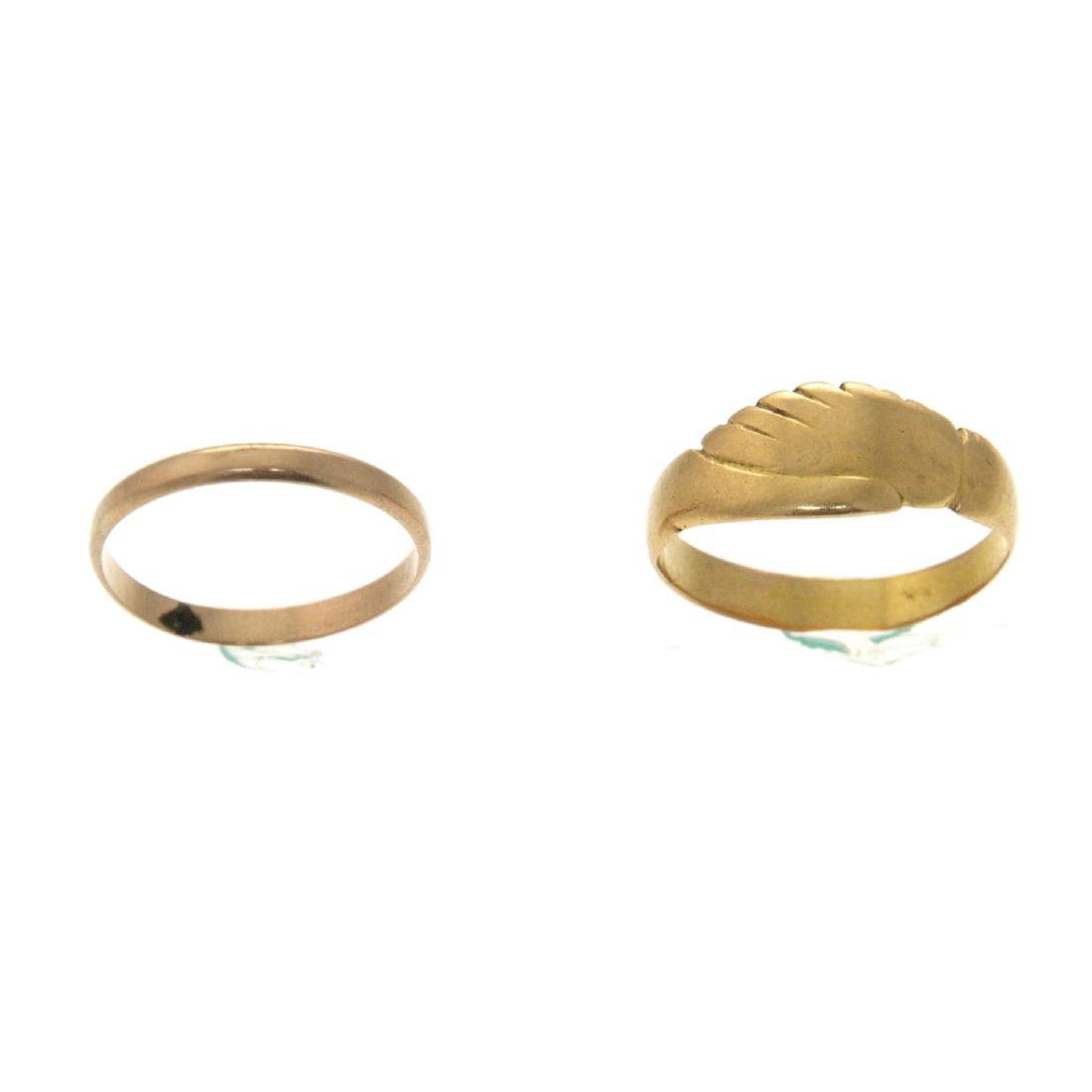 Lot of Two Gold Rings.
