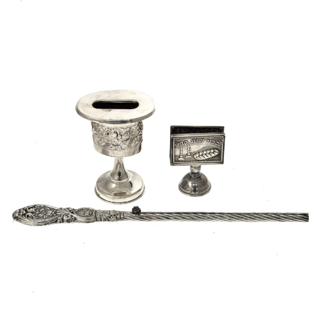 Lot of Sterling Silver Havdallah Items.