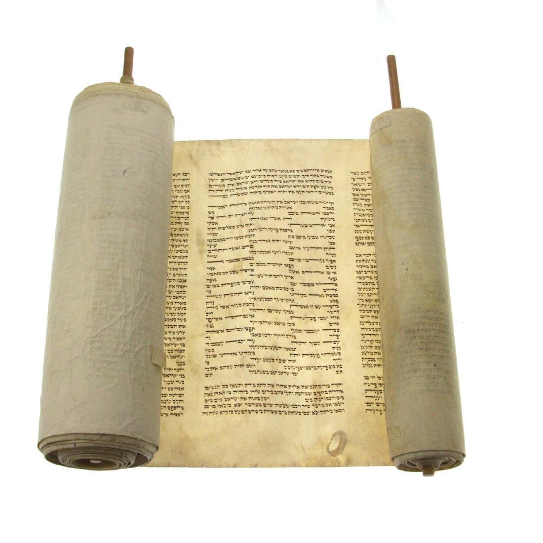 Torah Scroll on Parchment, 20th Century, Judaica.