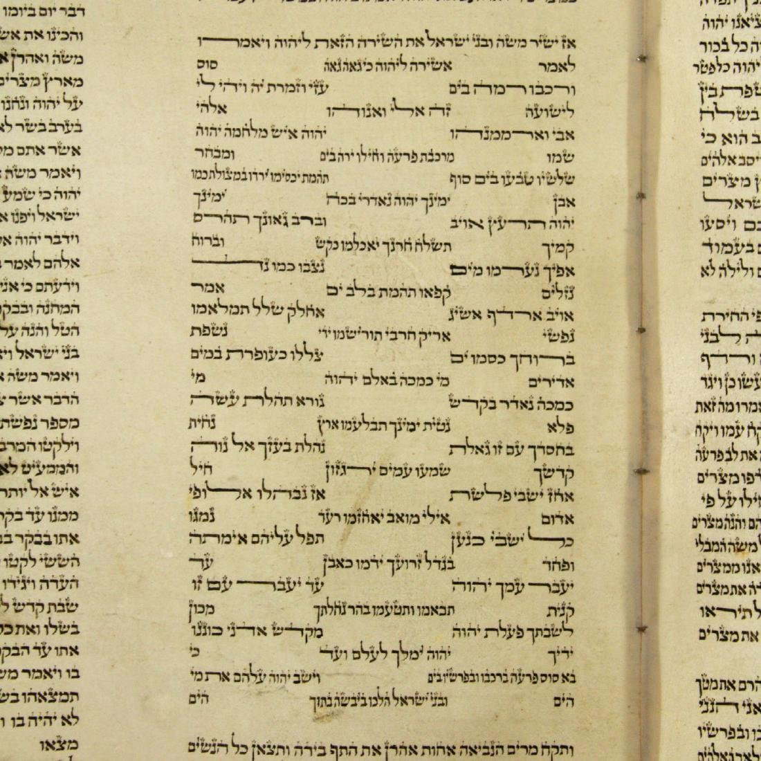 Torah Scroll on Parchment, Late 19th Century - Early