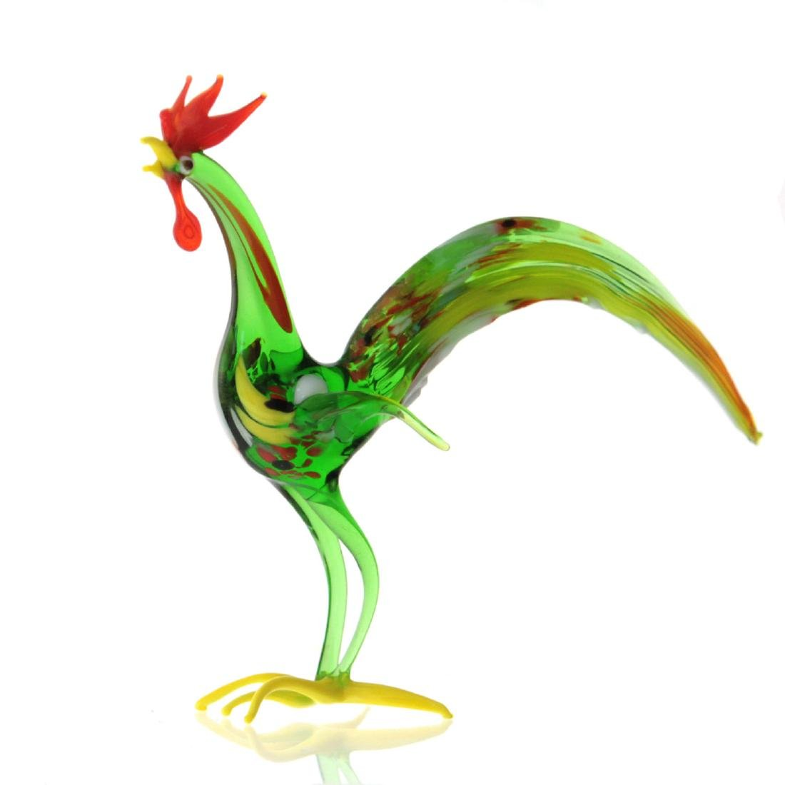 Murano Glass Rooster Figure.