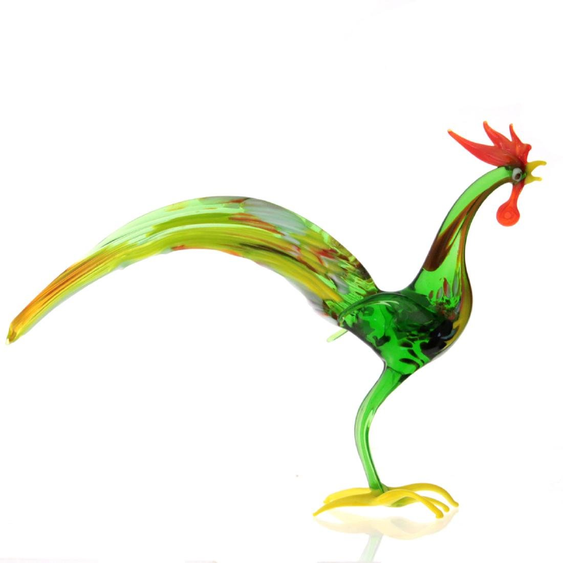 Murano Glass Rooster Figure. - 2
