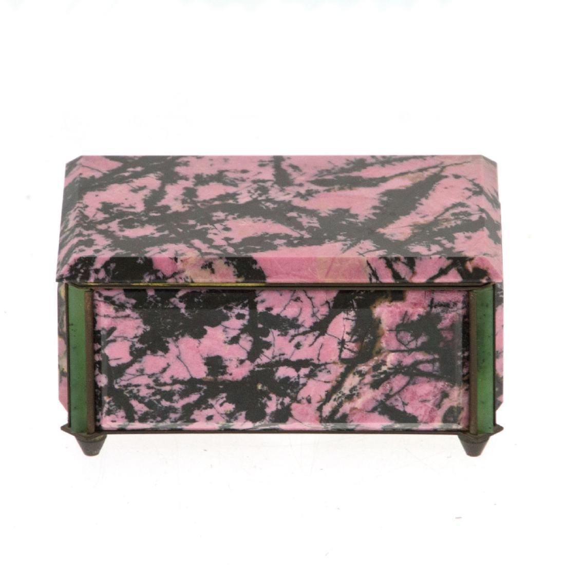 Rhodonite and Aventurine Jewelry Box.