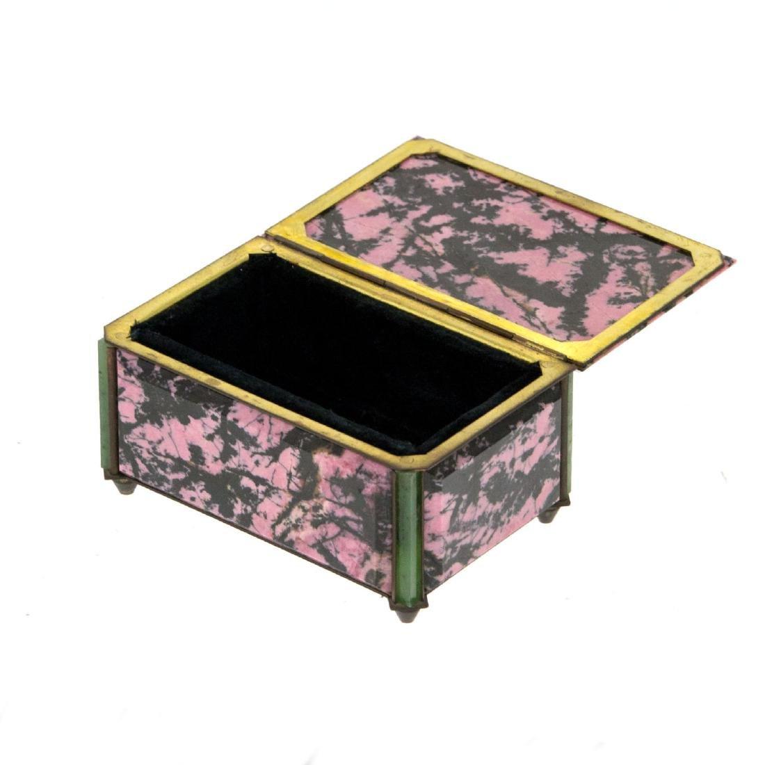 Rhodonite and Aventurine Jewelry Box. - 2