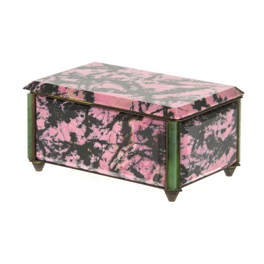 Rhodonite and Aventurine Jewelry Box. - 3
