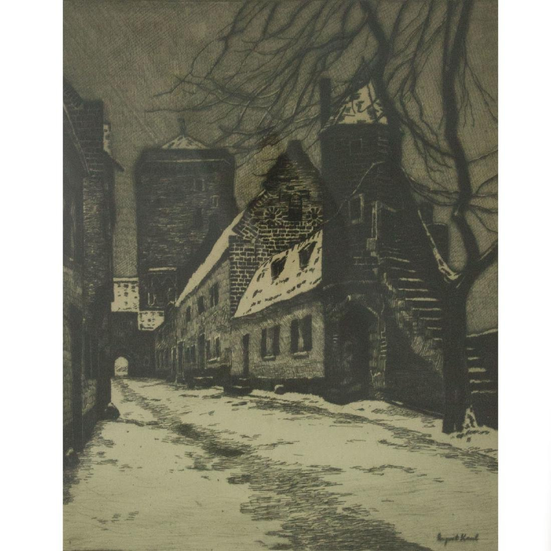 August Kaul (Germany, 1873-1949) - Street View,