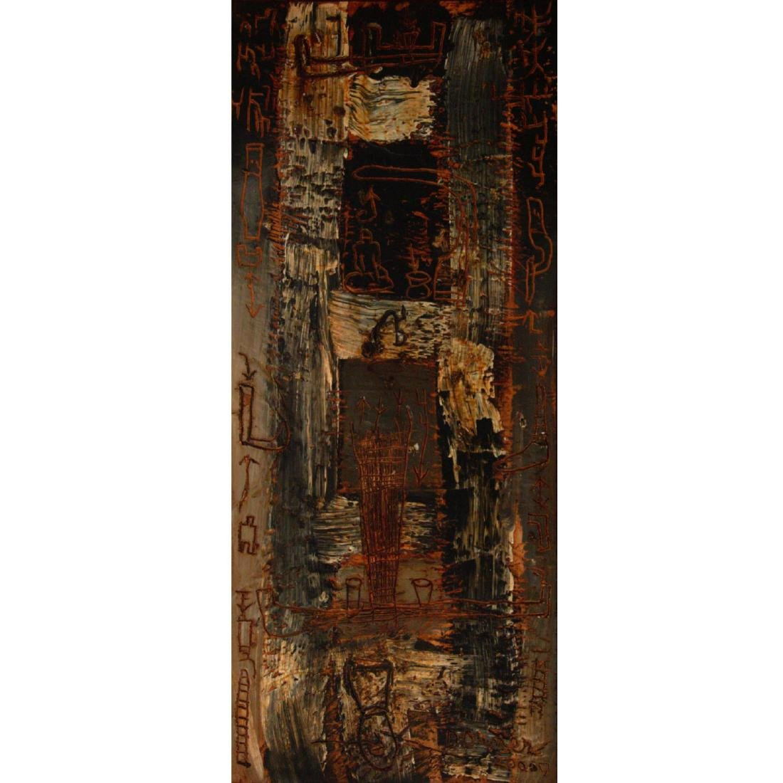 Diego Donner - Abstract, Mixed Media on Masonite, 2000.