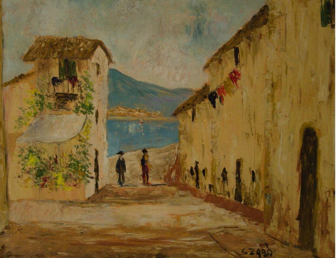 Szabo - Landscape, Oil on Canvas.