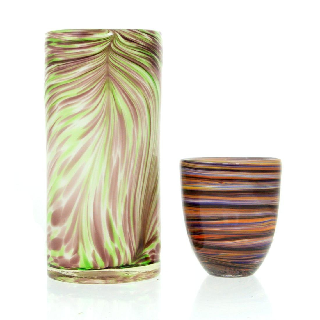 Two Murano Glass Vases.