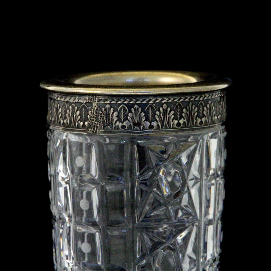 Silver and Crystal Vase, Moscow, Russia, 1950s-1960s. - 2