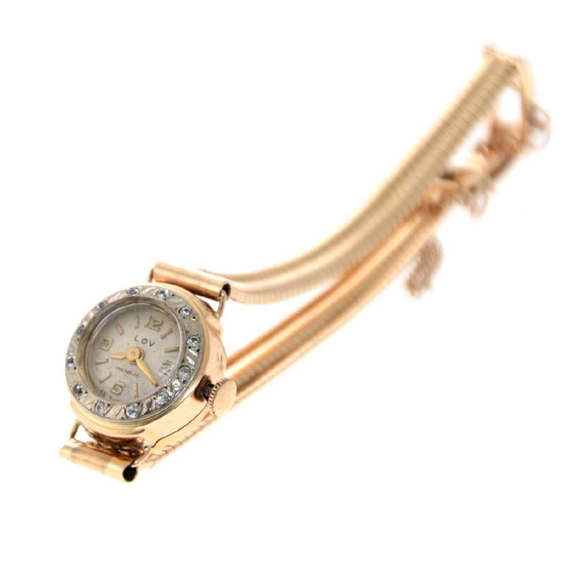 Lov Gold Wrist Watch.