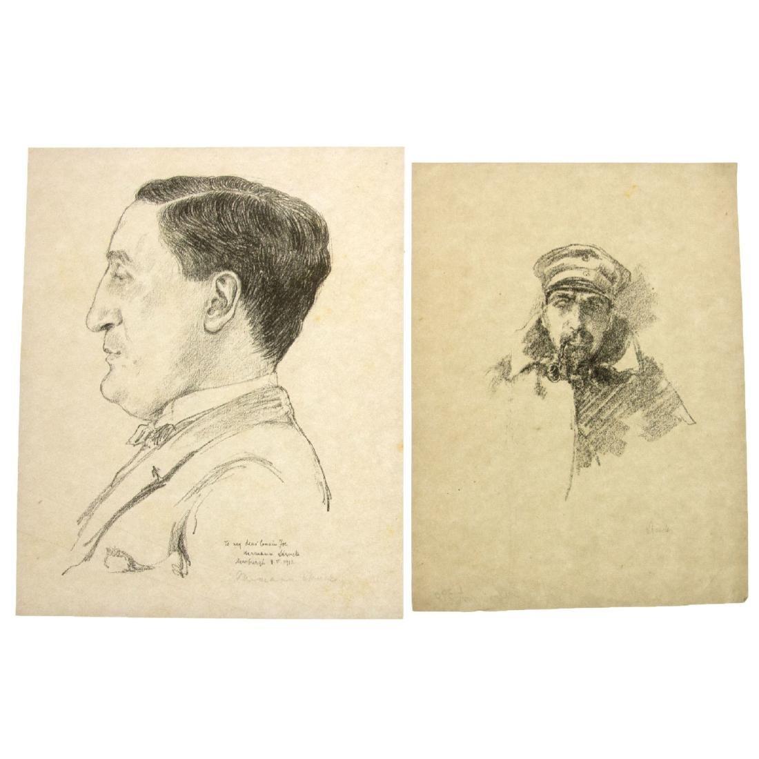 Hermann Struck (1876-1944) - Ten Figures Lithographs. - 2