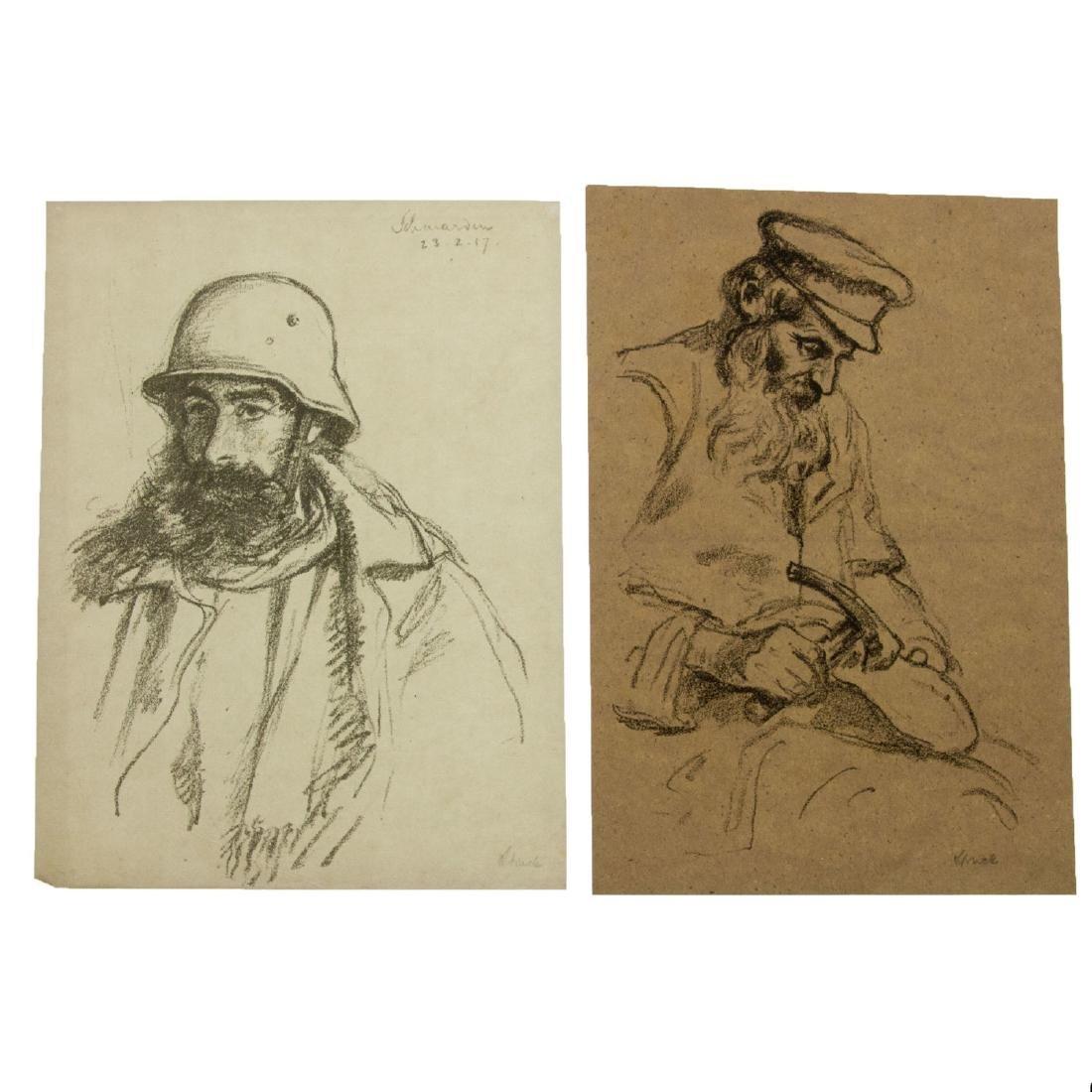 Hermann Struck (1876-1944) - Ten Figures Lithographs. - 4