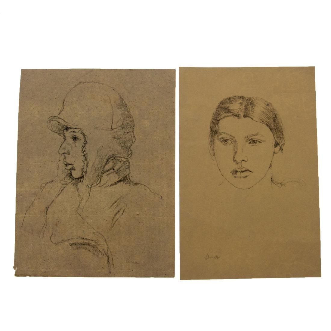 Hermann Struck (1876-1944) - Ten Figures Lithographs.