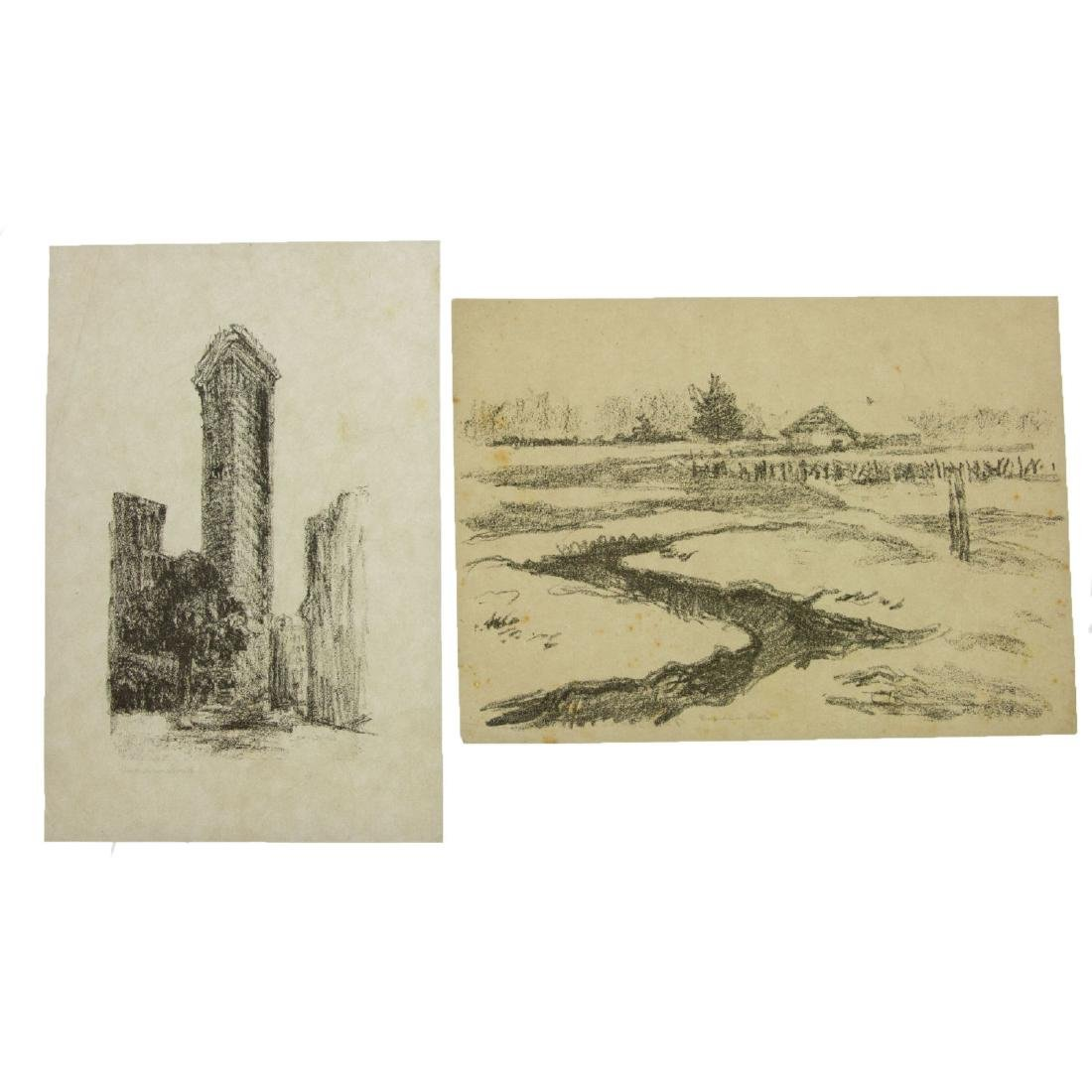 Hermann Struck (1876-1944) - Ten Landscape Lithographs.