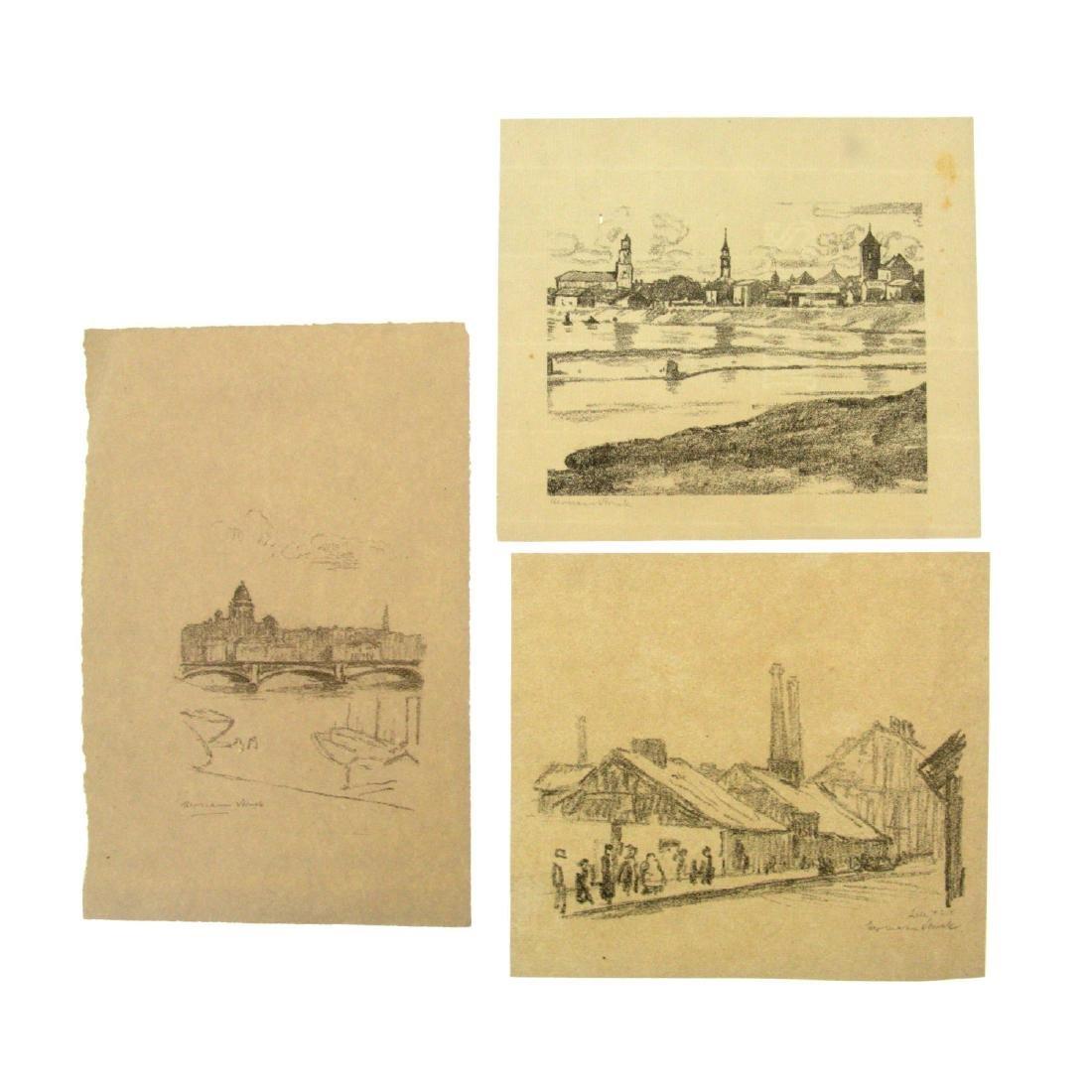 Hermann Struck (1876-1944) - Ten Landscape Lithographs.