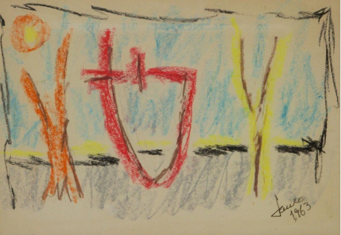 Marcel Janco (1895-1984) - Abstract, Pastel on Paper,