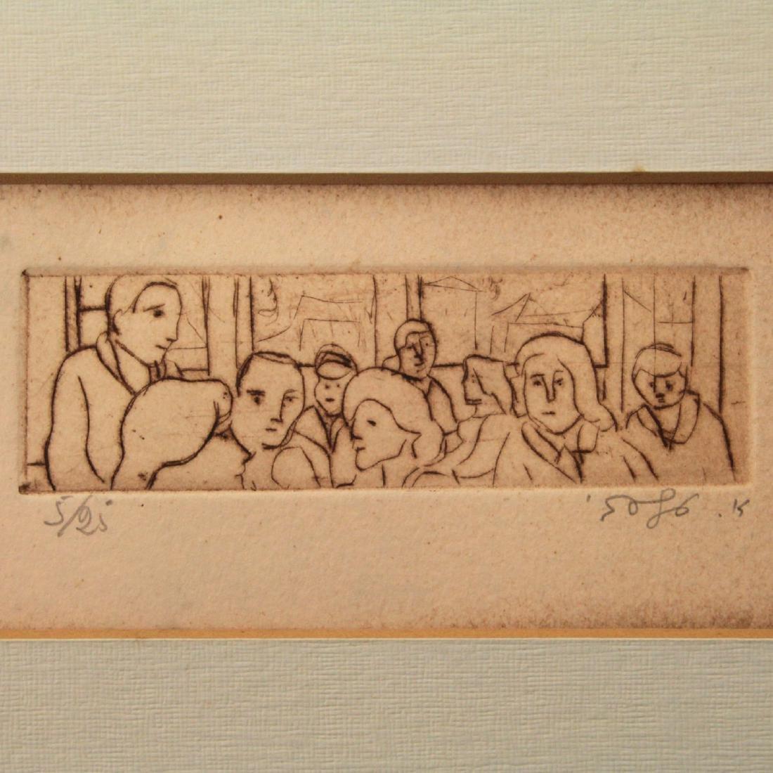 Aharon Giladi (1907-1993) - Two Etchings.