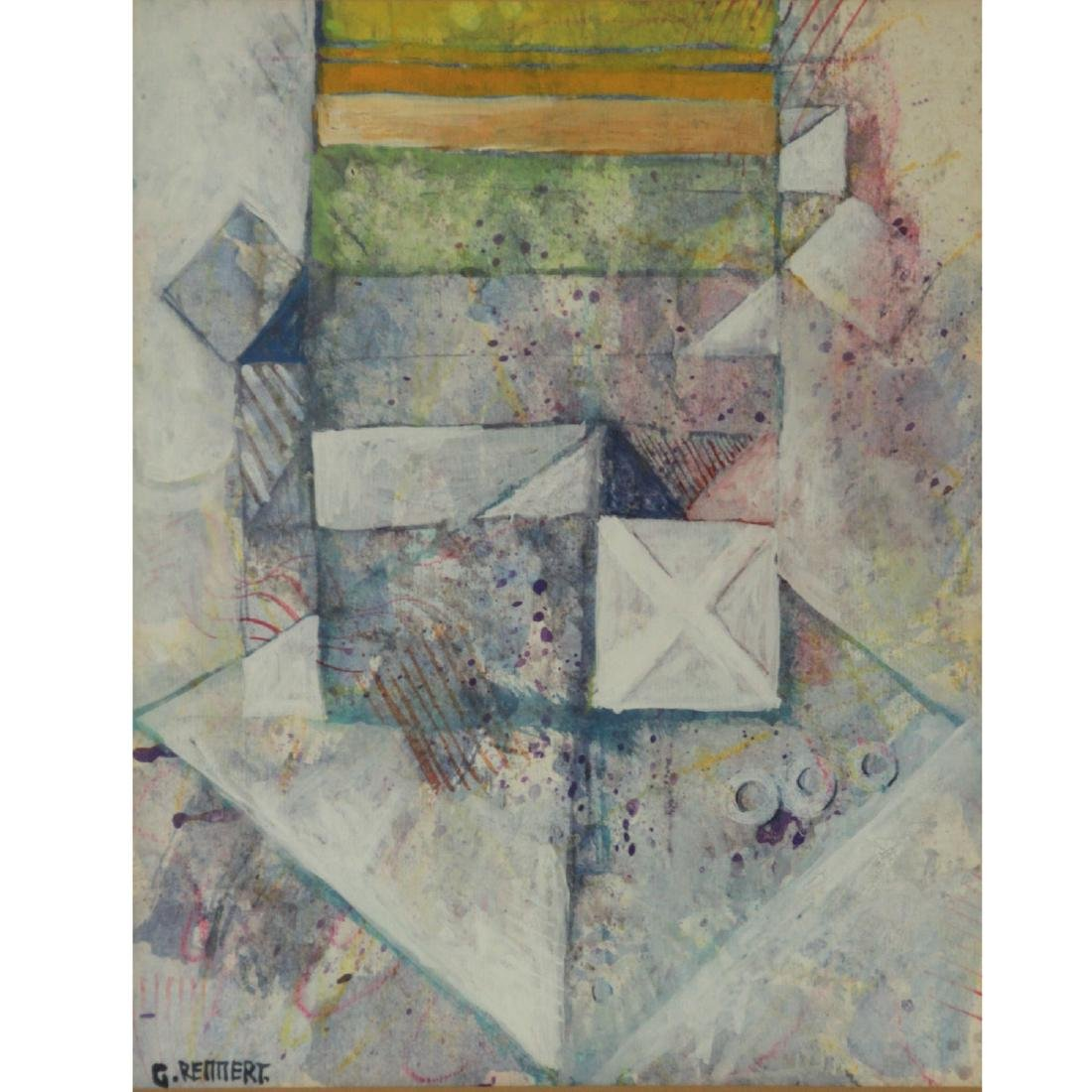 Gershon Rennert (1929-2010) - Abstract, Mixed Media on