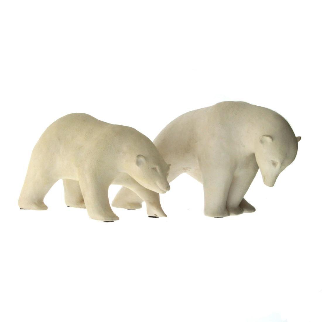Hagar Gila (b.1938) - Two Polar Bears Sculptures.