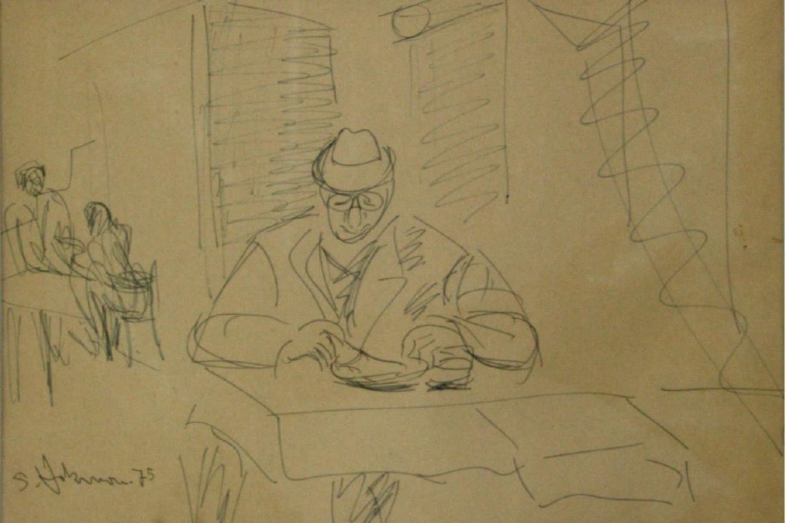 Shimshon Holzman - Figure, Ink on Paper, 1975.