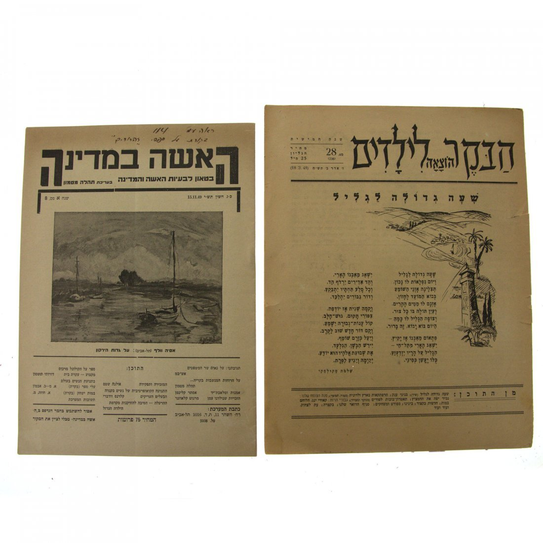 Collection of 15 Eretz-Israel & Early Israel Newspapers - 3
