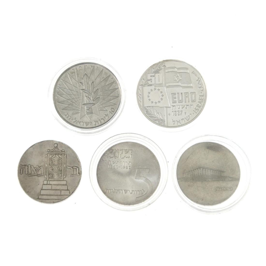 Five Israel Silver Coins. - 2