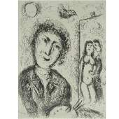 Marc Chagall (1887-1985) - Self Portrait with Easel,