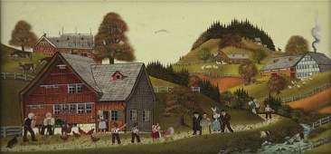 Albert Manser (Swiss, 1937-2011) - Oil on Masonite,